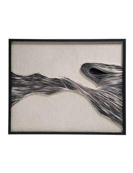 FRAMED ROPE AND PAPER ART BY JEN LIN