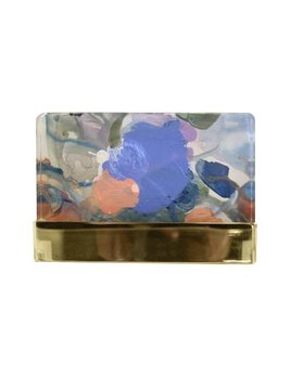 ROKU ARTWORK IN ACRYLIC AND BRASS BLOCK BY LINDSEY MEYER
