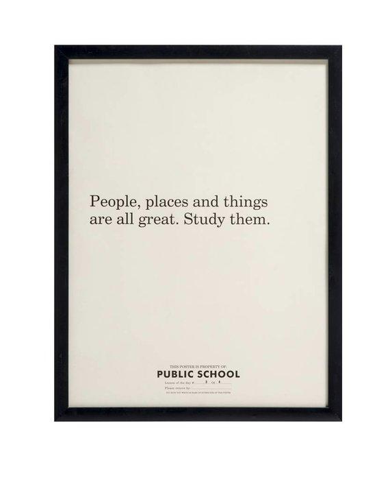 PUBLIC SCHOOL POSTER - STUDY