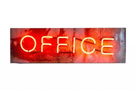 NEON OFFICE SIGN