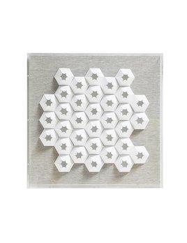 JEN LIN JZ025-1  WHITE CONE PAPER ART IN ACRYLIC