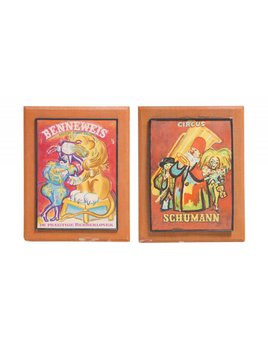 SCHUMANN & BENNEWEIS CIRCUS ARTWORK - SOLD AS A PAIR