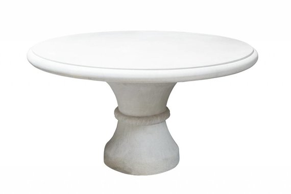 "60"" Stone Table by Michael Taylor"