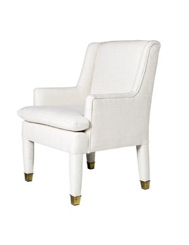 MARLON CHAIR IN WHITE TWEED - FLOOR MODEL