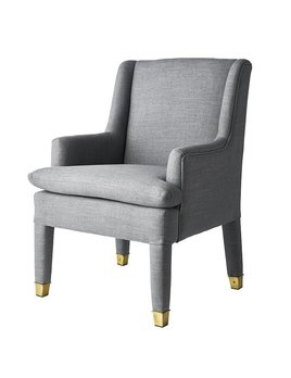 MARLON CHAIR IN GREY TWEED - FLOOR MODEL