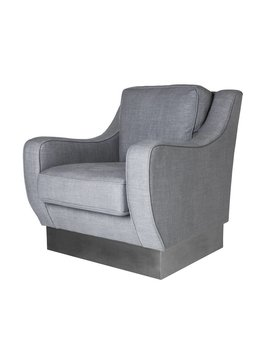 CYBILL CHAIR IN GRAPHITE LINEN - FLOOR MODEL