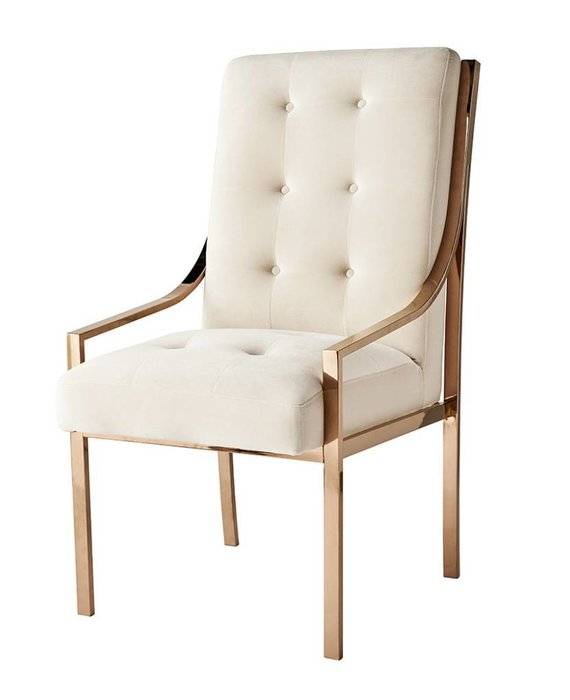 MCCLAIN DINING CHAIR IN ROSE GOLD - FLOOR MODEL