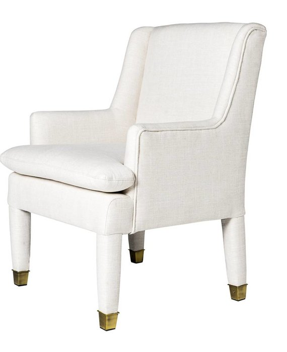 MARLON CHAIR IN OYSTER LINEN- FLOOR MODEL