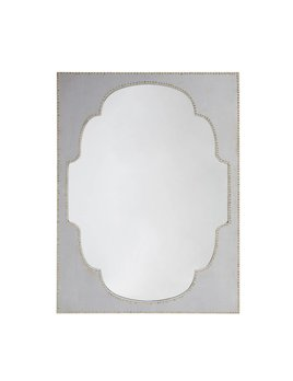 GREY MIRROR WITH NAILHEAD TRIM - SAMPLE