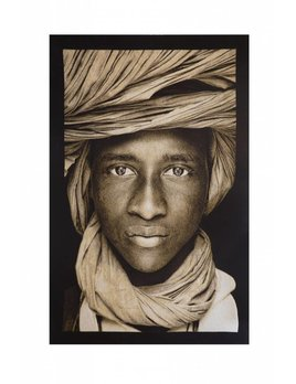 WOVEN TEXTILE ARTWORK BY MARIO GERTH- TUAREG BOY MALI