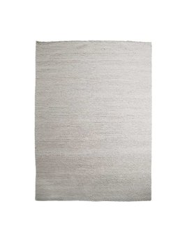 BRAIDED WOOL RUG IN LIGHT GREY