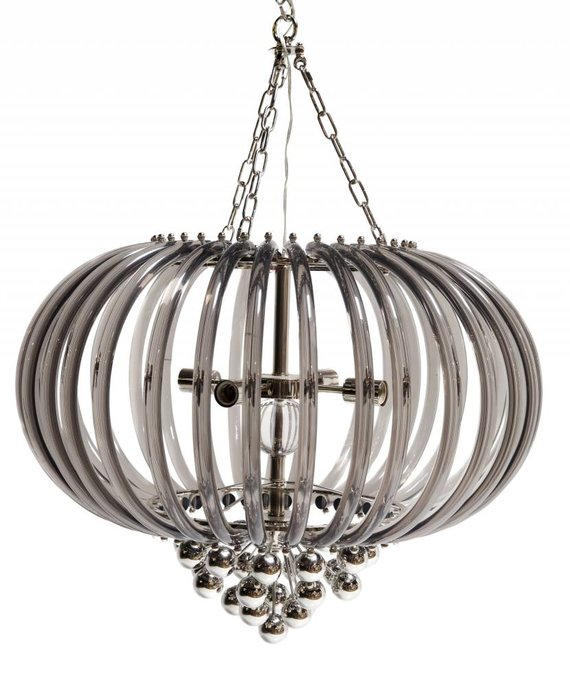 SMOKED ACRYLIC RING CHANDELIER