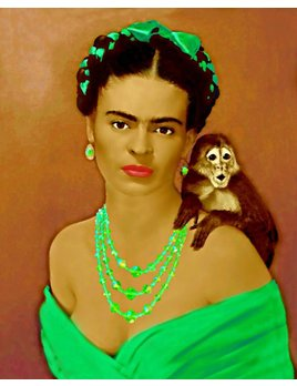 FRIDA WITH MONKEY