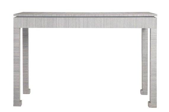 CIPHER CONSOLE TABLE IN BLUE ABACA - FLOOR MODEL