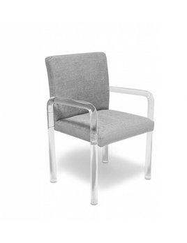 GRAHAM CHAIR IN LIGHT GREY TWEED