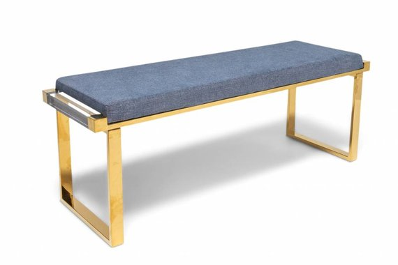 DON'T GHOST ME BENCH IN NAVY TWEED