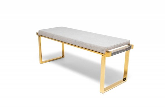 LOOPLESS LIVING DON'T GHOST ME BENCH IN GREY TWEED