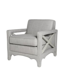 CARY CHAIR IN MIST LINEN - FLOOR MODEL