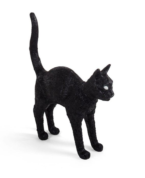 CAT LAMP JOBBY - BLACK BY SELETTI