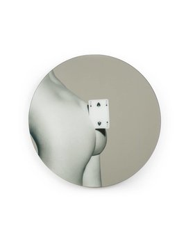 TWO OF SPADES ROUND MIRROR BY SELETTI