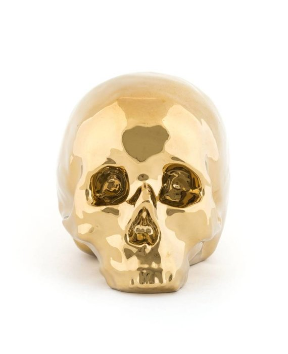 GOLD EDITION SKULL BY SELETTI