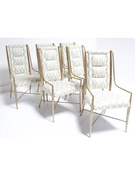 SET OF 6 VINTAGE MASTERCRAFT DINING CHAIRS