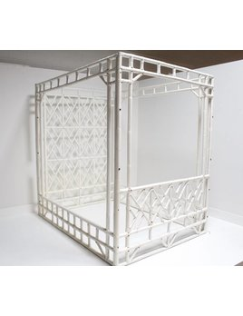 VINTAGE BAMBOO AND RATTAN CANOPY BED