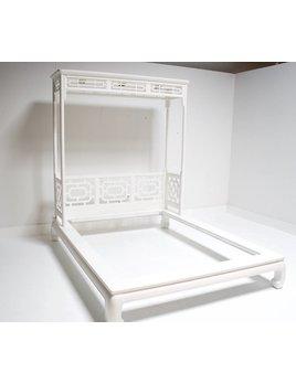 VINTAGE MING PLATFORM CANOPY BED