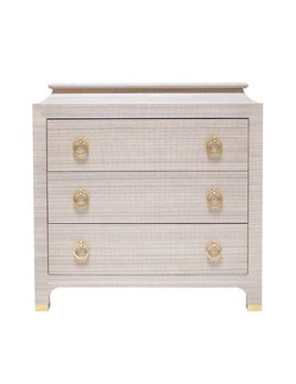 ESPIONAGE CHEST PETITE WRAPPED IN LAVENDER ABACA