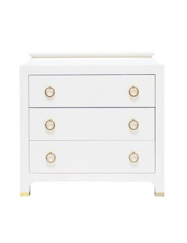 ESPIONAGE CHEST PETITE LACQUERED IN WHITE