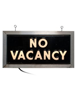 Vintage No Vacancy Sign Double Sided