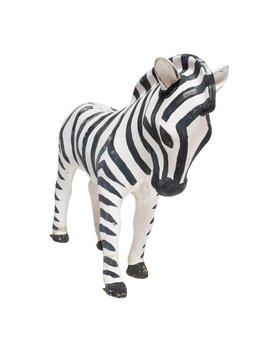 Small Fiberglass Zebra