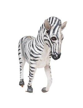 Large Fiberglass Zebra