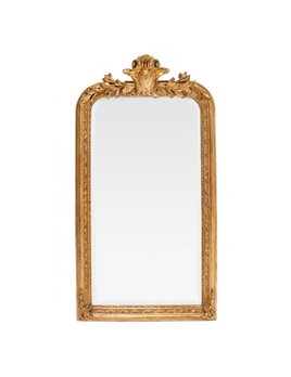 Louis Philippe Mirror - Medium With Crown