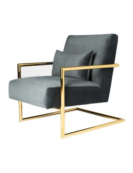 SEYMOUR CHAIR IN SMOKE GREY VELVET - FLOOR MODEL