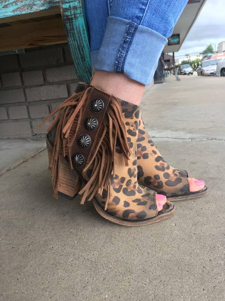 Leopard Peep Toe