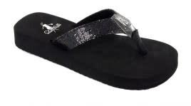 Corky's Girls Sebring Black Flip Flop