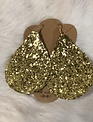 XLarge Gold Glitter Teradrop Earrings