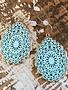 Back Road Beauties Baby Blue Mandala Teardrop Earring