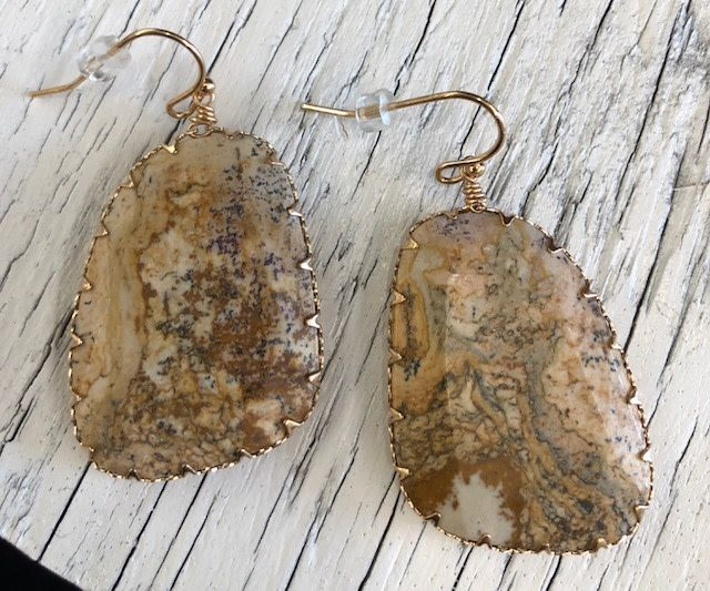 Back Road Beauties Jasper Stone Drop Earrings