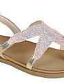 Girls Pink Glitter Star Sandals