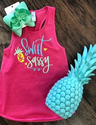 Back Road Beauties Kids Sweet & Sassy Tank
