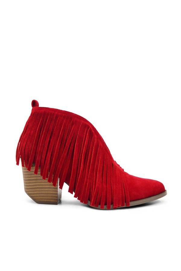 Carrie Fringe Booties