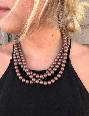 SILVER STRIKE Copper 3 Strand Beads