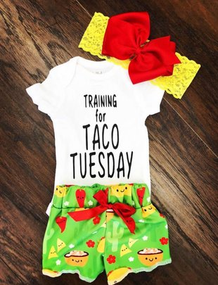 Back Road Beauties Training for Taco Tuesday Infant Onesie