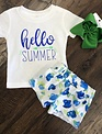 Back Road Beauties Hello Summer Kids Tee