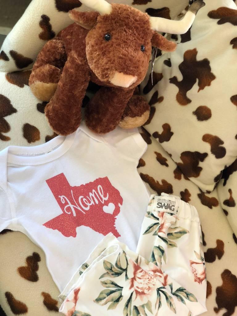 Back Road Beauties Kids Glitter Pink Texas Onesie