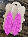 Back Road Beauties Hot Pink Braided Leather Earrings