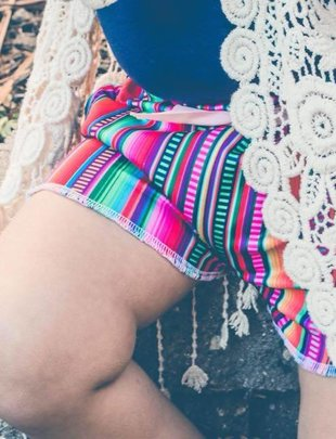 Little Girl Serape Shorts