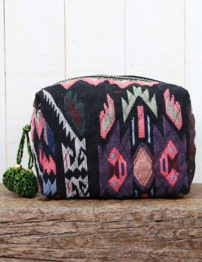 Navajo Inspired Jacquard Makeup Bag